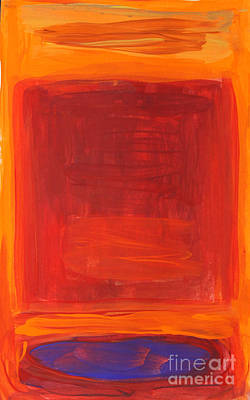 Landscape Painting - Oranges Reds Purples After Rothko by Anne Cameron Cutri