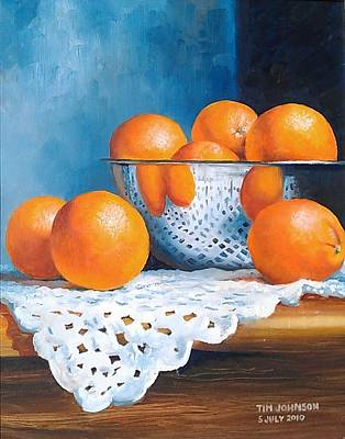 Oranges Art Print by Tim Johnson