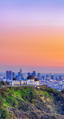 Photograph - Orangesicle Griffith Observatory by Scott Campbell