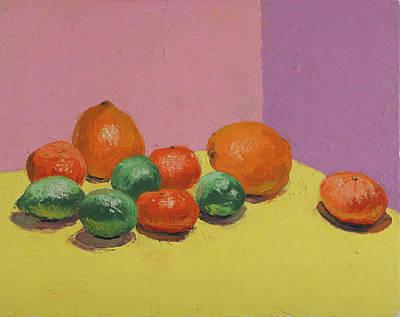 Tangerine Painting - Orangoj Kalkoj Kaj Mandarino by David Zimmerman