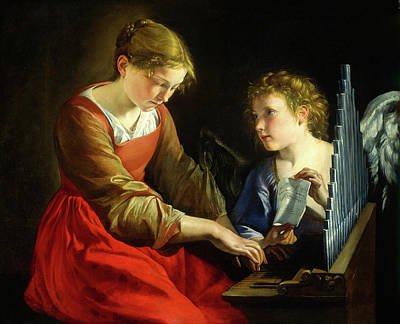 Saint Cecilia Painting - Orazio Gentileschi And Giovanni Lanfranco by Litz Collection