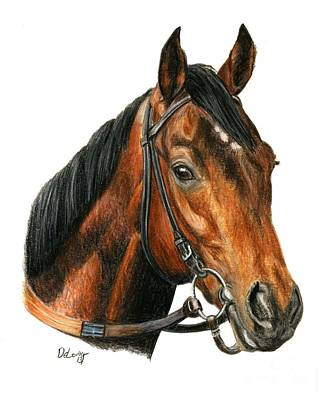 Race Horse Painting - Orb  2 by Pat DeLong