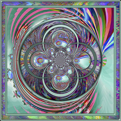 Digital Art - Orb-fuscation by Wendy J St Christopher