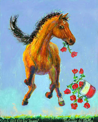 Kentucky Derby Painting - Orb Will Fly For Roses by Louise Mellon