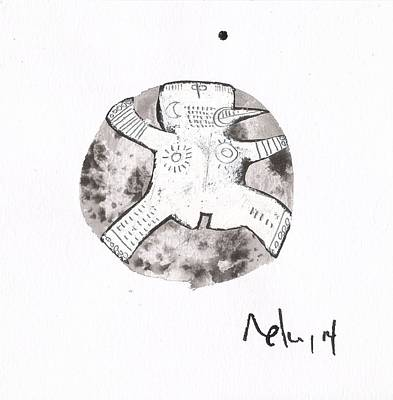 Primitive Drawing - Orbis No. 15 by Mark M  Mellon
