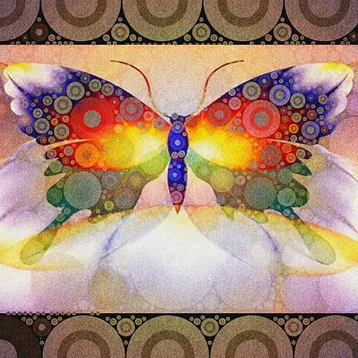 Digital Art - Orbital Butterfly by T T