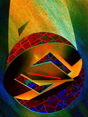 Orbiting Circle Spinning Square Art Print by Randall Weidner