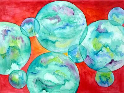 Orbs Art Print by E White