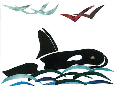 Orca Mixed Media - Orca by Earl ContehMorgan