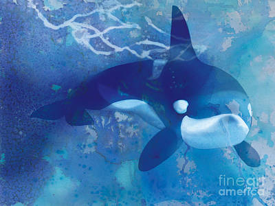 Orca Painting - Orca, Whale by Tracy Herrmann