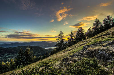 Orcas Island Photograph - Orcas Island Sunset by Puget  Exposure