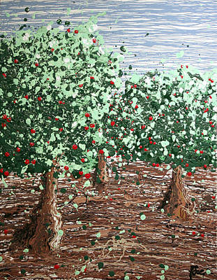 Fruit Tree Art Giclee Painting - Orchard 4 by Ric Bascobert