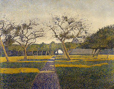 Orchard At La Louviere Print by Mountain Dreams