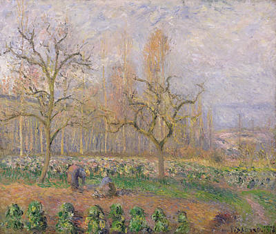 Pontoise Painting - Orchard At Pontoise by Camille Pissarro