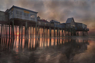 Brilliant Color Photograph - Orchard Beach Glorious Morning by Betsy Knapp