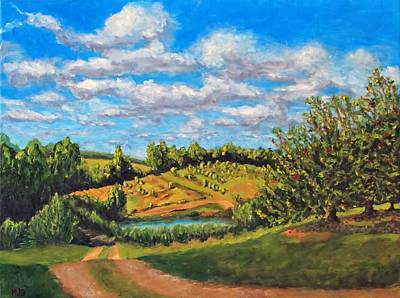 Painting - Orchard by Michael Saunders