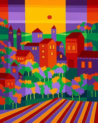 Villa Painting - Orchard Villa by Michael Jernegan