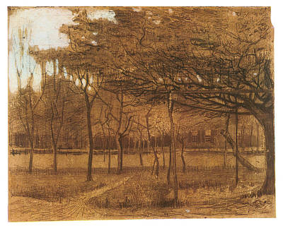 Impressionism Drawing - Orchard by Vincent van Gogh