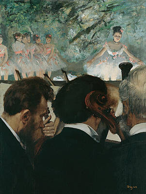 Musician Framed Painting - Orchestra Musicians by Edgar Degas