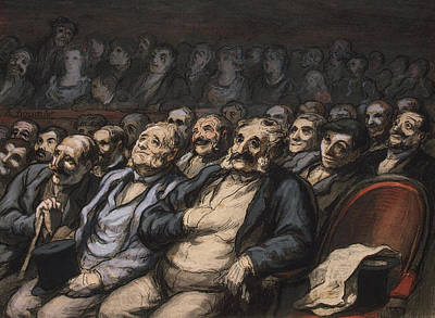 Theater Drawing - Orchestra Seat by Honore Daumier
