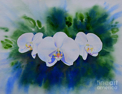 Thomas Kinkade Rights Managed Images - Orchid Blast Royalty-Free Image by H Cooper