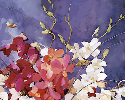 Painting - Orchid Bouquet by Ursula Freer