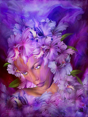 Mixed Media - Orchid Goddess by Carol Cavalaris