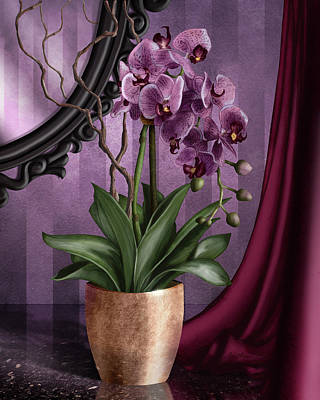 Scroll Digital Art - Orchid I by April Moen