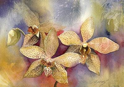Orchid In Yellow Art Print by Alfred Ng