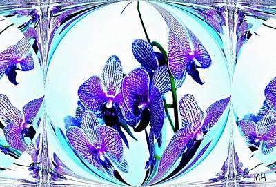 Wrap Digital Art - Orchid Love by Marsha Heiken