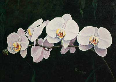 Orchid Melody Art Print by Pam Kaur