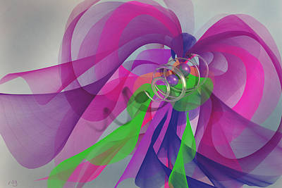 Abstract Digital Art - Orchid Rogariuos by Roger Pearce