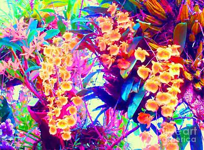 Orchid Splash Art Print by Ann Johndro-Collins