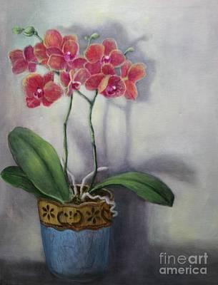 Orchid Still Life Art Print by Randy Burns