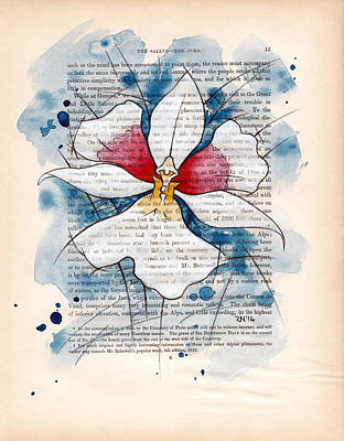Mixed Media - Orchid Study II by Rudy Nagel