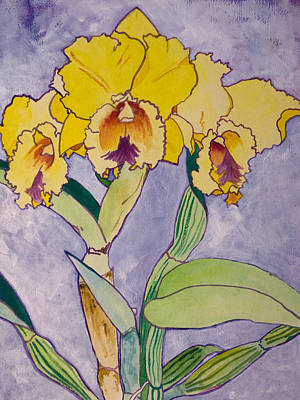 Painting - Orchid Study by Terry Holliday