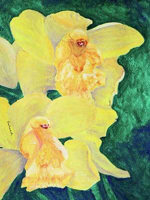 Painting - Orchid Yellow by Margaret Saheed
