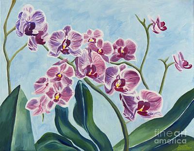 Painting - Orchids by Annette M Stevenson