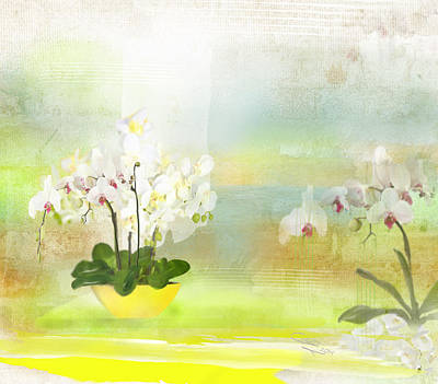 Digital Art - Orchids - Limited Edition 1 Of 10 by Gabriela Delgado