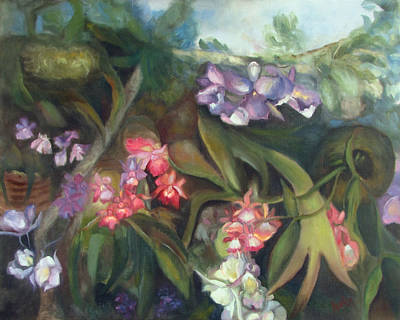 Orchids I Art Print by Susan Hanlon