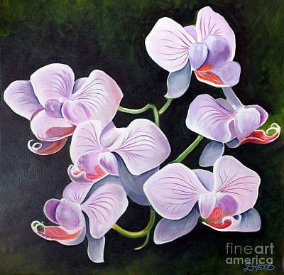 Orchids II Art Print by Debbie Hart