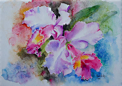 Orchid Drawing - Orchids by Isabel Salvador