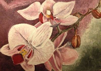 Painting - Orchids by John Schuller