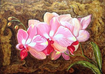Art Print featuring the painting Orchids by Renate Voigt