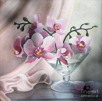 Orchids Art Print by Vesna Martinjak