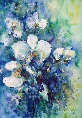 Painting - Orchids by Zaira Dzhaubaeva