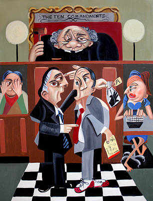 Lawyer Painting - Order In The Court by Anthony Falbo