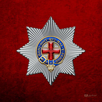 Digital Art - Order Of The Garter Star On Red Velvet by Serge Averbukh