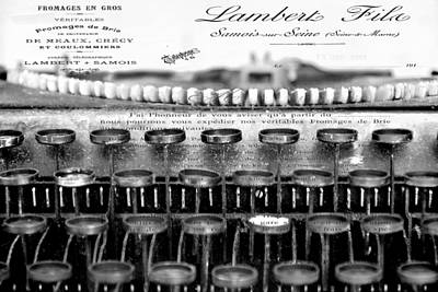 Typewriter Keys Mixed Media - Ordering Cheese Bw by Angelina Vick