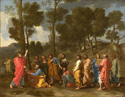 Religious Artist Painting - Ordination by Nicolas Poussin